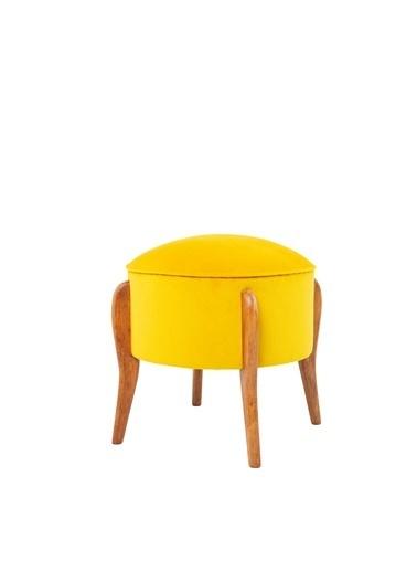 Ze10 Design Lockett Puf Sarı Sarı